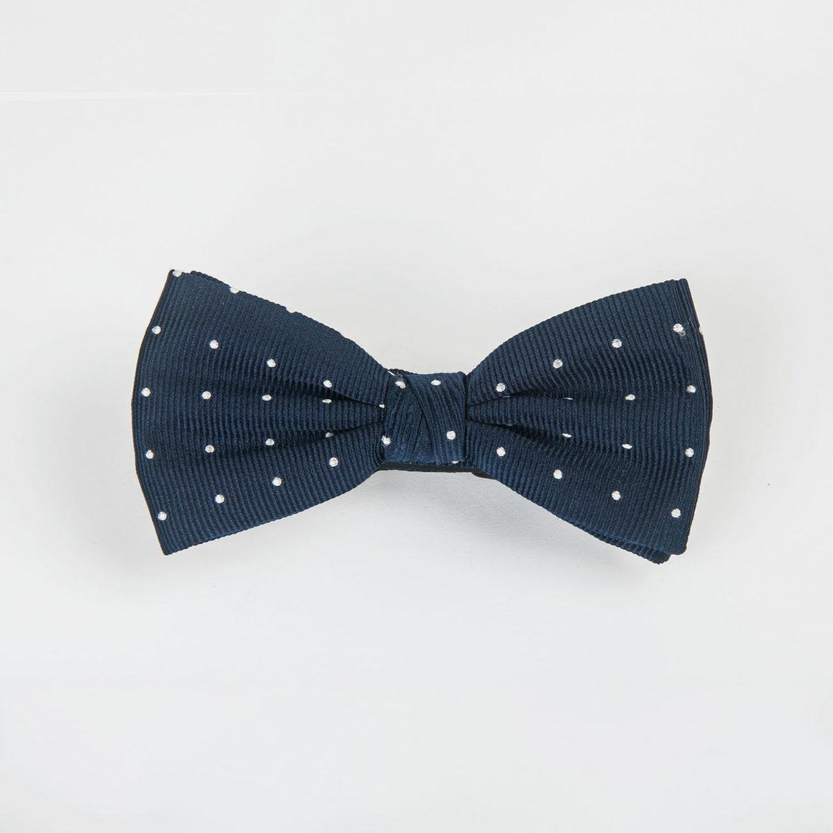 Pajarita-Jacquard-de-Seda-100%-Topos-Azules2