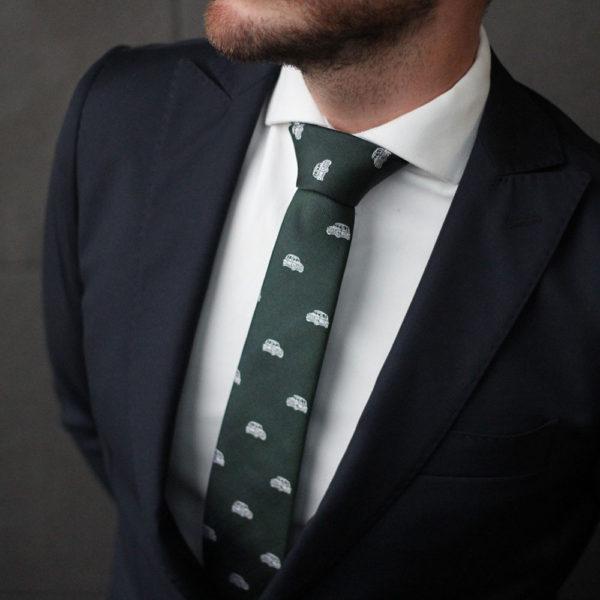 Socketts-7-cm-Corbata-Coche-Mini-Verde_Blanca-de-Seda